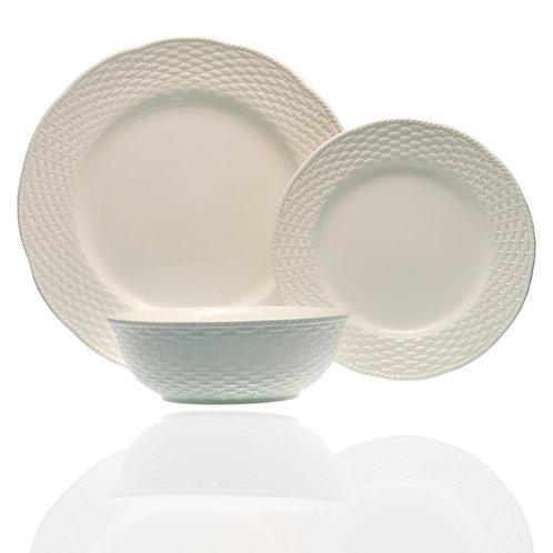 Nantucket White 18Pc Dinner Set