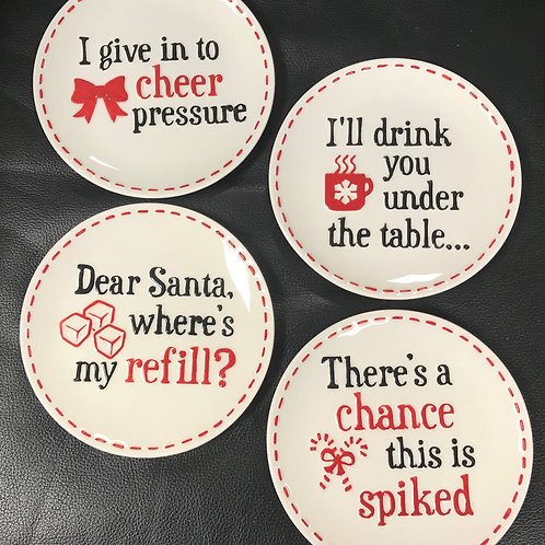 Holiday Cheer Side Plates Set/4