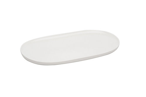 """Everytime White Oval Coupe Platter 12"""" x 6.75"""""""