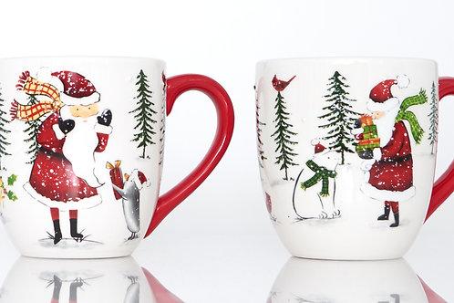 Holiday Cheer Mugs 20oz Red
