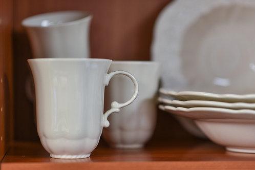 Country Estate White Mug 14oz Set/4