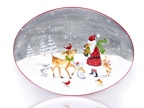 Holiday Cheer Oval Platter