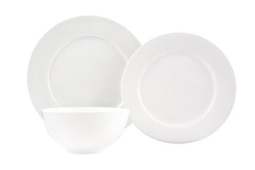 Pure Vanilla Rimmed 18Pc Dinner Set