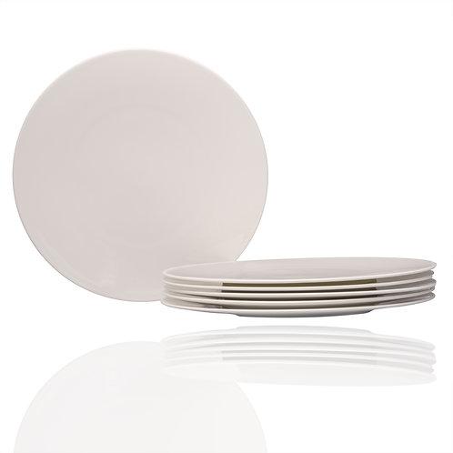 Extreme White Round Dinner Plate