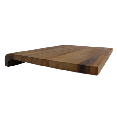 Natura Wood Cutting Board and Prep Station with Curved Edge