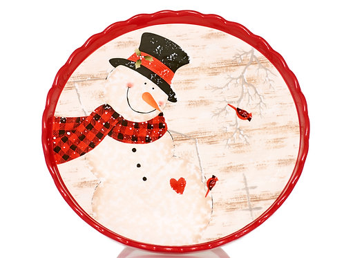 Frosty's Magical Christmas Cake Plate