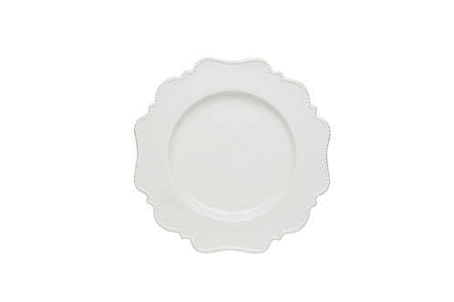 Pinpoint White Bread and Butter Plate