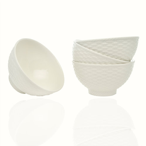 Nantucket White Fruit Bowls 20oz Set/4