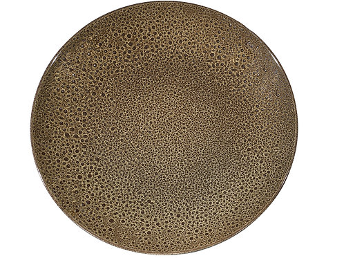Organic Art Brown Coupe Service Platter