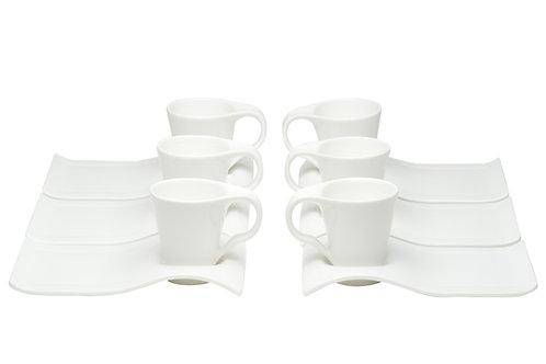 Vanilla Fare Espresso Cup w/Tray Set/6
