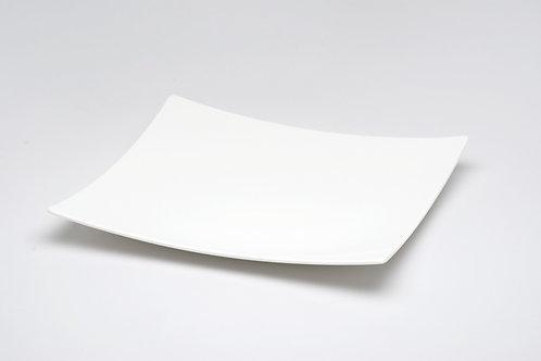 "Extreme White Square Platter 12.5"""