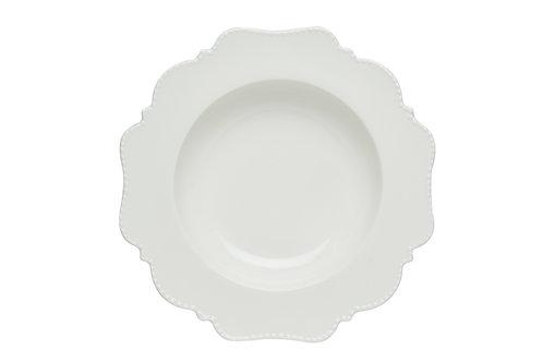Pinpoint White Rimmed Soup Bowl 12oz