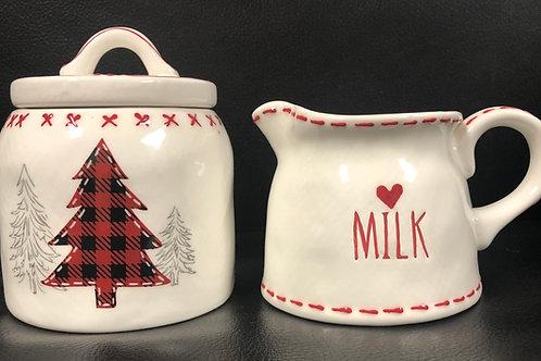 Holiday Cheer Milk and Sugar Set