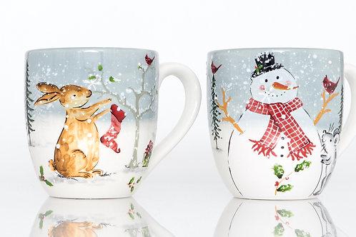 Holiday Cheer Mugs 20oz White