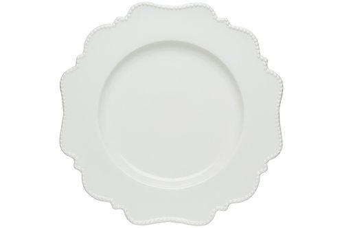Pinpoint White Round Platter