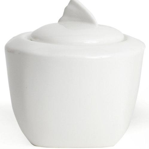 """Vanilla Wave Covered Sugar Bowl 4"""" 12oz"""