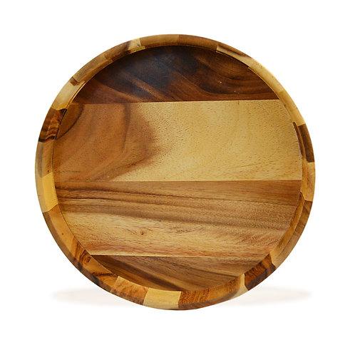 Natura Acacia Wood Round Serving Tray