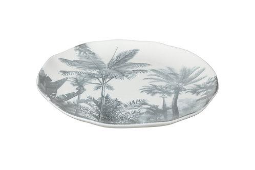 Paradise Palm Gray Side / Salad Plate Set/4