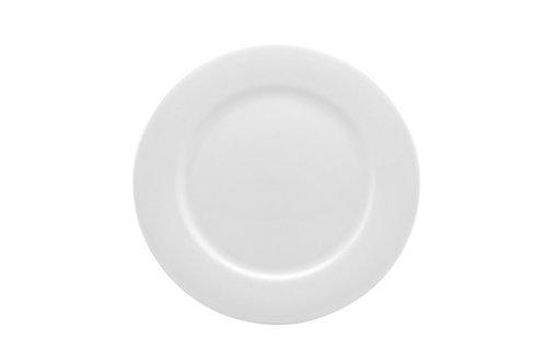 Pure Vanilla Rimmed Entree Plate