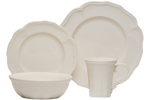 Classic White 16Pc Dinner Set