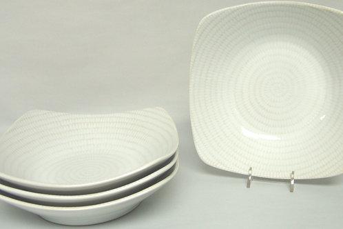 White Rice Square Soup Bowl 20oz