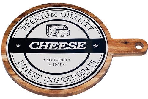 Vanilla Slice Round Paddle Board Serving Tray