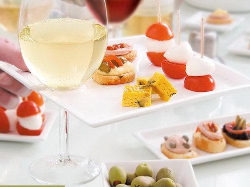 Vanilla Trends Wine & Cheese Plate/Square Set/2