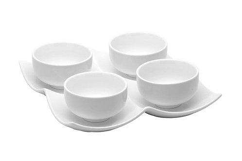 Vanilla Fare 4 Bowls w/Tray 4oz
