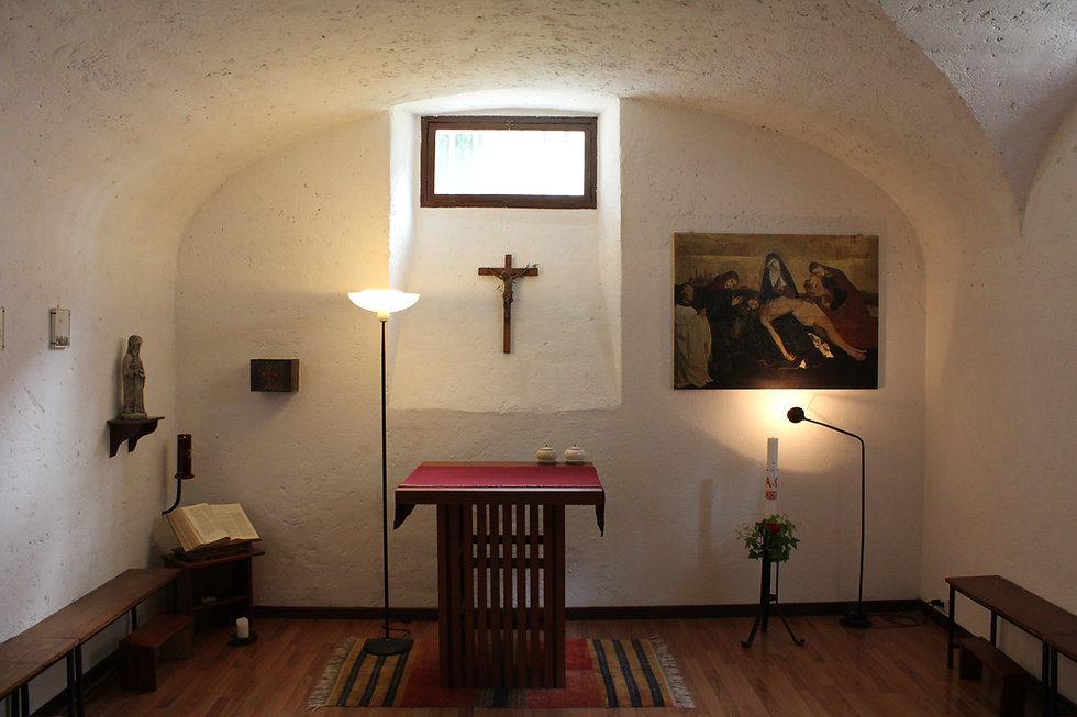 Chapel, vocation, discernment, Casa Balthasar