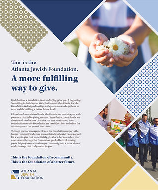 Jewish Foundation - a more fulfilling way to give
