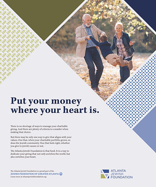 Jewish Foundation - put your money where your heart is