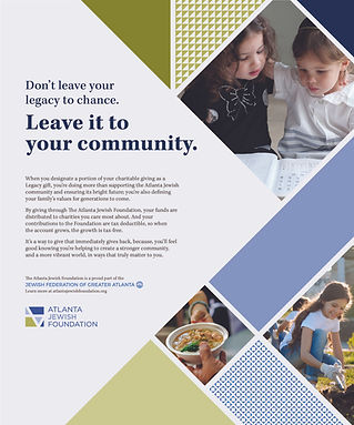 Jewish Foundation - leave it to your community