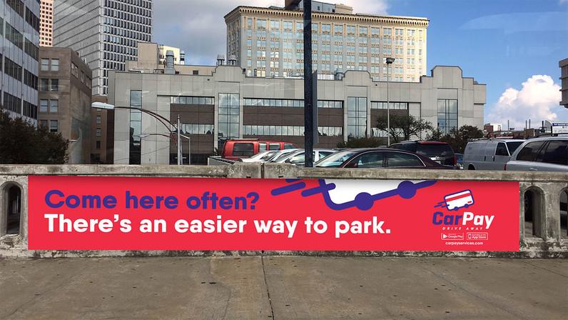 CarPay parking lot ad