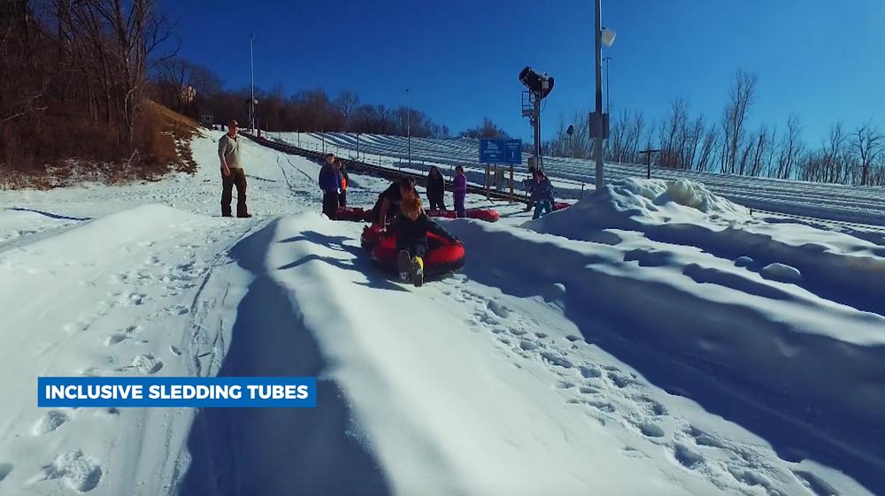 Inclusive sledding tubes