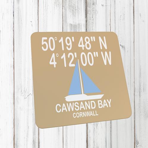 CAWSAND BAY COORDINATES COASTER
