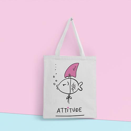 Tote Bag Fish Attitude