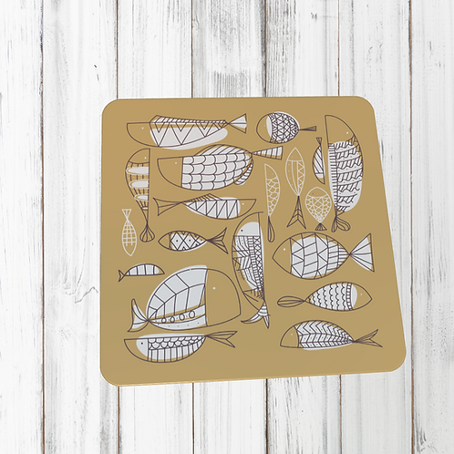 WHIMSICAL FISH COASTER