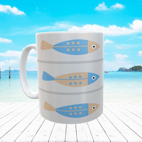 BLUE FISH MUG