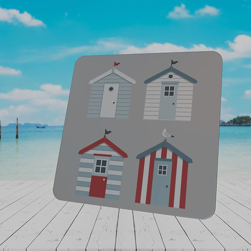 MODERN BEACH HUT COASTER