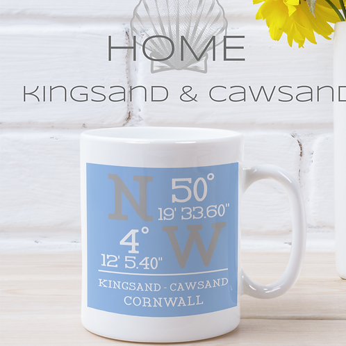 KINGSAND CAWSAND COORDINATES MUG