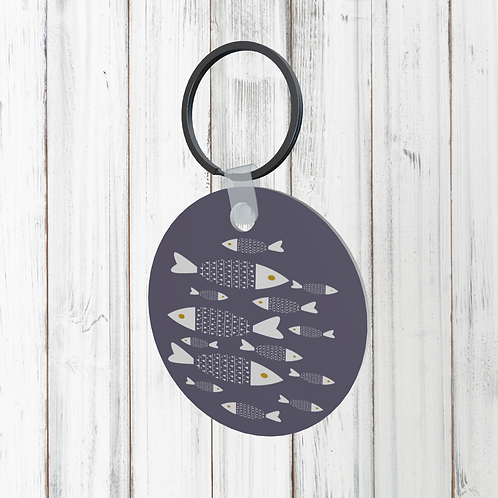 FISH DESIGN KEYRING