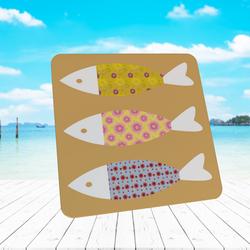 FLORAL FISH COASTER