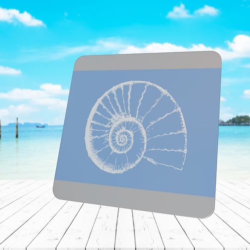 SKETCHED  NAUTILUS SHELL COASTER