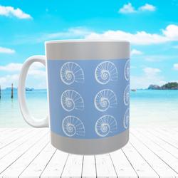 Multiple Shell  Mug Blue
