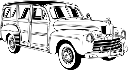 Black Outline Only
