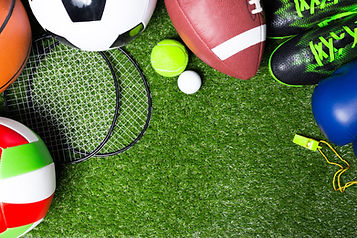 Various sport tools on grass.jpg