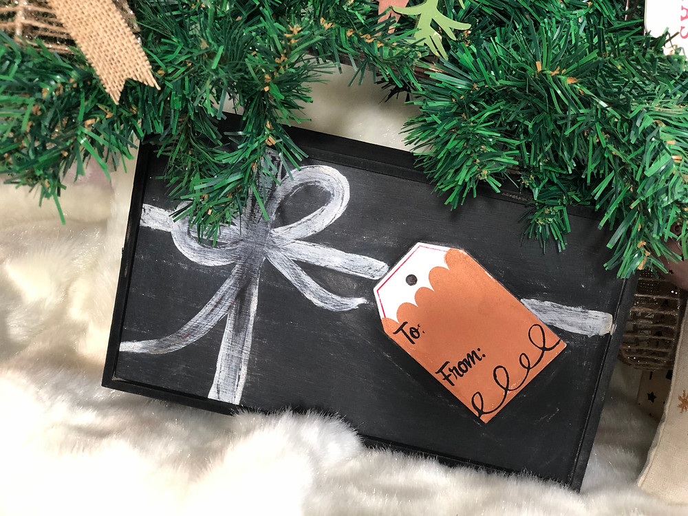 Eco-Friendly gift wrapping using Chalk Couture