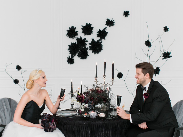 BlackWhite wedding