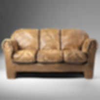 picture of an old brown sofa