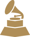 grammys logo in gold. old style gramophone. consilium client.